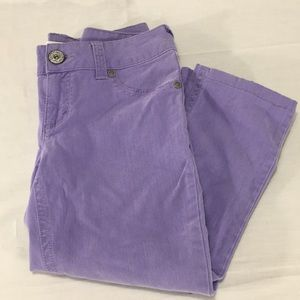 Candies Cropped Jeans Light Purple Size 5